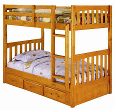 discovery world furniture twin over twin honey mission bunk beds
