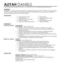 Retail Job Resume Objective by Resume For Part Time Job Example Resume Part Time Resume Template