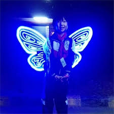 Kids Light Halloween Costume Light Fairy Wing Kids Butterfly Wings Led Flashing
