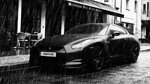 white nissan gtr wallpaper black nissan gt r in the rain wallpapers and images wallpapers