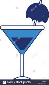 cartoon martini cocktail umbrella isolated icon stock photos u0026 cocktail umbrella