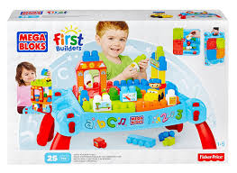 mega bloks first builders table amazon com mega bloks play n go table colors may vary toys games
