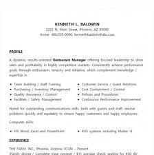 7 best restaurant manager resume