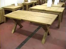 x leg dining table cross x leg extending oak dining tables youtube