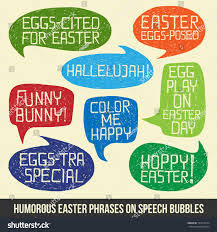 easter quotes happy easter set humorous easter quotes stock vector 181618274