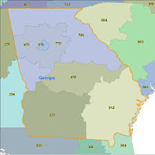 Virginia Area Code Map by Georgia Area Code Maps Georgia Telephone Area Code Maps Free