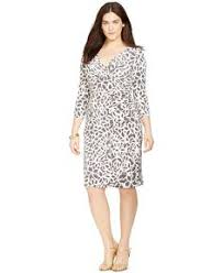 lauren ralph lauren chain print faux wrap dress dresses women