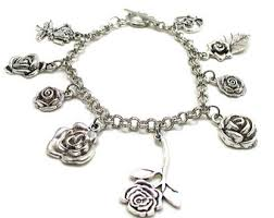 silver rose bracelet jewelry images Silver rose bracelet etsy jpg