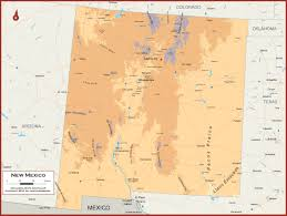 New Mexico Maps New Mexico Physical State Map