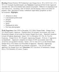 Sample Real Estate Resume by Professional Real Estate Appraiser Templates To Showcase Your