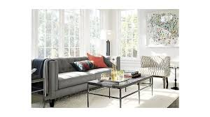 Who Makes Crate And Barrel Sofas Aidan Grey Herringbone Sofa Crate And Barrel