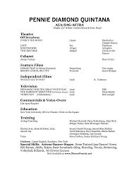 Special Skills Theatre Resume Theatre Resume