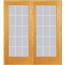 mmi door 74 in x 81 75 in classic clear v groove 15 lite