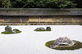 Ryoanji Rock Garden Zen Rock Garden In Ryoanji Temple Kyoto Japan Stock Photo