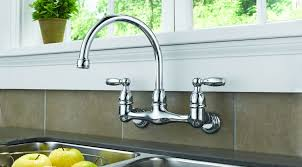wall mounted kitchen faucet brilliant wall mounted kitchen faucet of mount t8ls com home