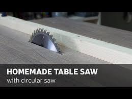 convert portable circular saw to table saw how to make a homemade table saw with circular saw homemade
