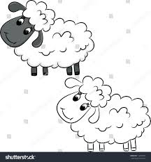 cartoon sheep coloring book vector illustration stock vector