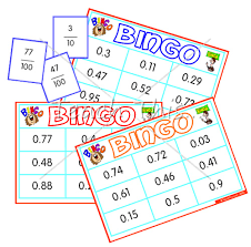fraction decimal bingo whole class set fun math games for
