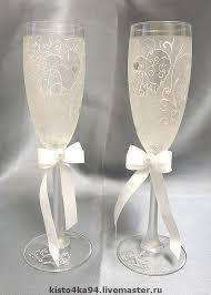 wine glasses for wedding buy wedding glasses painted on livemaster shop