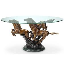 galloping horse trio coffee table decorative home hardware