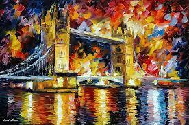 london bridge u2014 palette knife oil painting on canvas by leonid