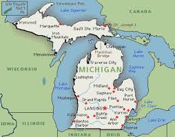 map of michigan michigan map map of michigan greenwich time