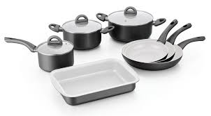 batterie de cuisine ceramique herzog hr pa10cr batterie de cuisine en revêtement céramique