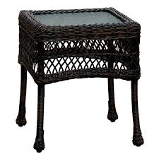 Dark Brown Wicker Patio Furniture by Dark Brown Wicker End Table At Home At Home
