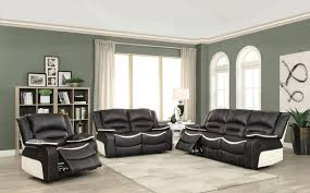 Cream Sofa And Loveseat Acme 52165 52166 Ebony U0026 Cream Motion Sofa And Loveseat