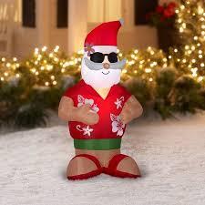 santa airblown 4 ft tropical santa