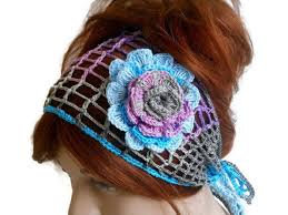 crochet hair band flower knitted headband color headband women knitted hair band