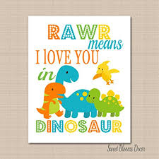 Dinosaur Bathroom Decor by Brothers Bloom Poster Price