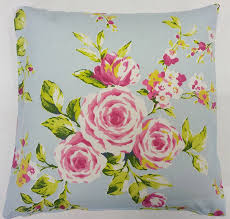 Shabby Chic Cushions Uk by Amazon Com Shabby Pink Blue Rose Floral Cotton Chic Cushion