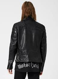 biker jacket black quilted leather biker jacket topman usa