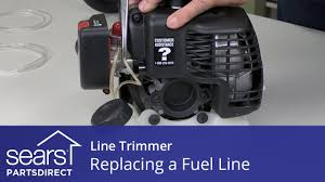how to replace the fuel line in a line trimmer youtube