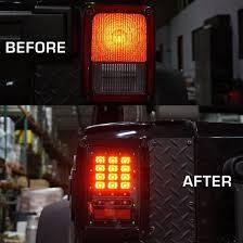 jeep jk led tail light bulb firebug jeep wrangler rear led lights led tail lights brake light