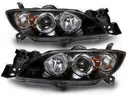 mazda sedan amazon com mazda 3 4 door sedan halogen headlights headlamps set