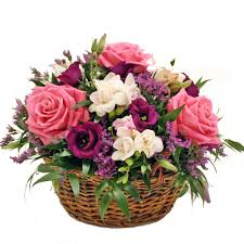 basket arrangements scented basket arrangement 30cm dia beautiful basket of roses