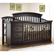 Changing Table And Crib Convertible Crib With Changing Table Attached Thebangups Table