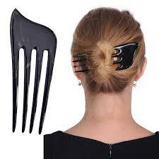hair fork marycrafts buffalo horn 4 prong hair fork hair comb hair pin