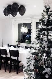 pretentious black christmas decor agreeable and white tree