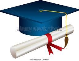 blue graduation cap blue graduation hat yellow tassel stock photos blue graduation