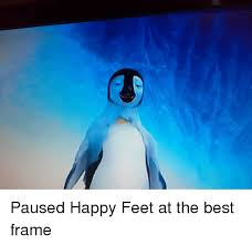 Happy Feet Meme - paused happy feet at the best frame funny meme on esmemes com