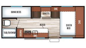 Travel Trailer Floor Plans With Bunk Beds by Wolf Pup Rv New U0026 Used Rvs For Sale Lakeshore Rv