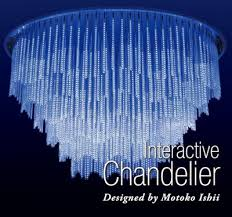 Led Chandelier Rohm To Highlight Interactive Led Chandelier At Upcoming Paris