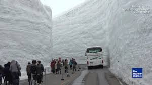 travel weather images Travel through japan 39 s snow canyon at mt tateyama the weather jpg