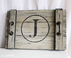 monogrammed serving trays diy farmhouse style serving tray pretty handy girl