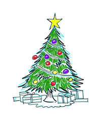 astonishing drawing of christmas tree with decoration 21 with