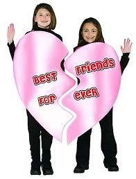 Halloween Costume 2 Girls Bff Friends Halloween Valentines 2 Person Costume