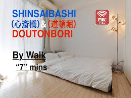 chambres d hotes 19鑪e one bedroom apartment near shinsaibashi subway a46 osaka offres
